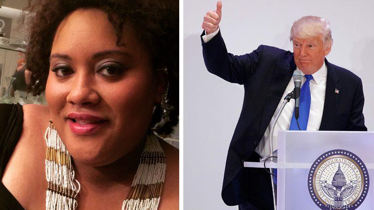 Left: Alisha Jones (Courtesy of Alisha Jones) Right: President Donald Trump (AP Photo/Evan Vucci)