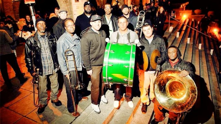 New Sound Brass Band will play 'Philly-style' brass at 7165 Lounge on Sunday afternoon. (Courtesy of Albert Yee)