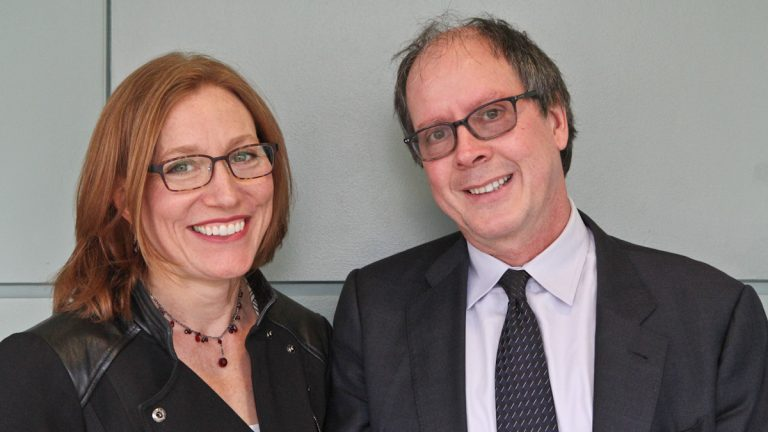 Dr. Beth Linker and Ric Burns (Kimberly Paynter/WHYY)