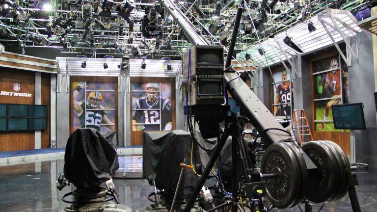 The NFL Network studio at NFL Films in Mount Laurel. (Emma Lee/for NewsWorks)