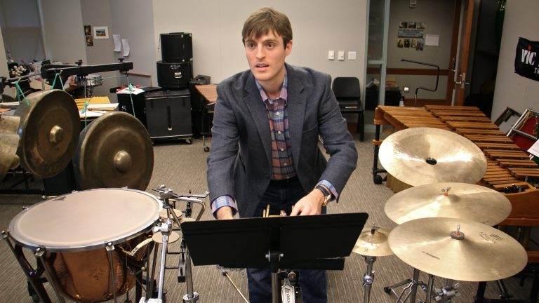 Curtis Institute of Music student Nick DiBerardino composed a work for percussion instruments inspired by Philadelphia's One Book