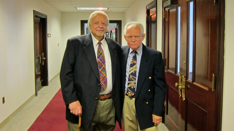 Nino Esposito (left) adopted Drew Bosee, his partner for more than 40 years, in July of 2013. They are having difficulty getting the adoption annulled so that they can get married. (Photo provided)