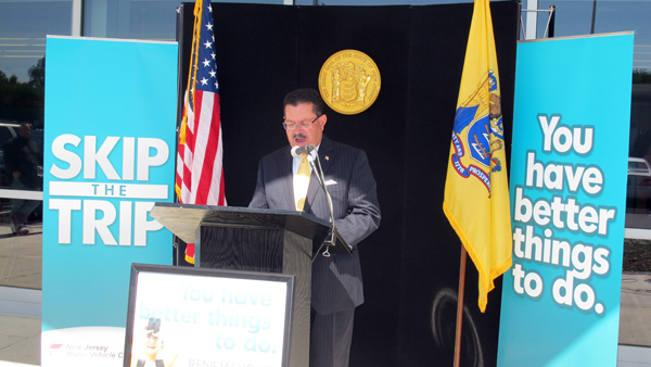 N.J. Motor Vehicle Commission Chief Administrator Ray Martinez announces the expansion of the