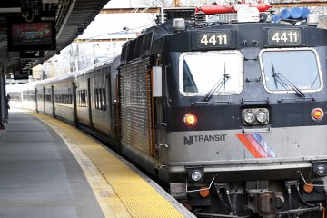 An NJ Transit train pulls into the station (Mel Evans/AP, file)
