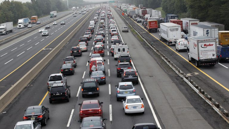 Cars and trucks are shown jammed on the southbound New Jersey Turnpike. (AP Photo/Mel Evans, file)
