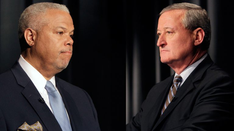 State Sen. Anthony Williams (left) and former Councilman Jim Kenney will face off once and for all during Tuesday's mayoral primary election (Photos by Stephanie Aaronson/Next Mayor)