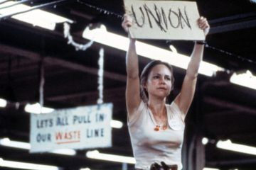 Actress Sally Field as Norma Rae is shown in this still from the eponymous 1979 film about a woman who stands up against her employer's unfair labor practices.
