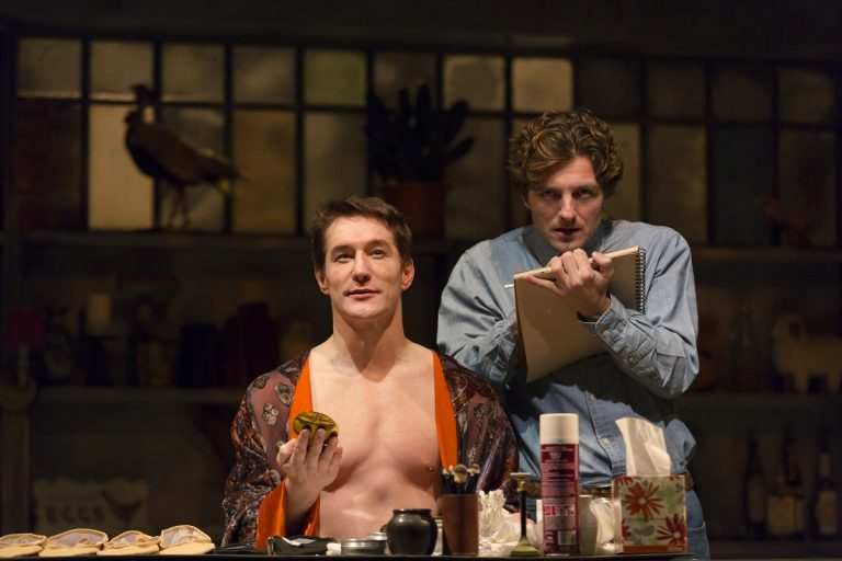 Bill Dawes (left) plays dancer Rudolf Nureyev and William Connell (right) as Jamie Wyeth in