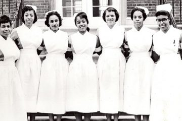 Mercy Douglass' graduating class of 1960 (Photo courtesy of Barbara Bates Center for the Study of the History of Nursing)