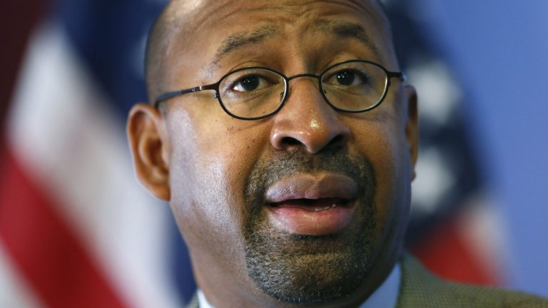 Outgoing Philadelphia Mayor Michael Nutter (AP file photo)