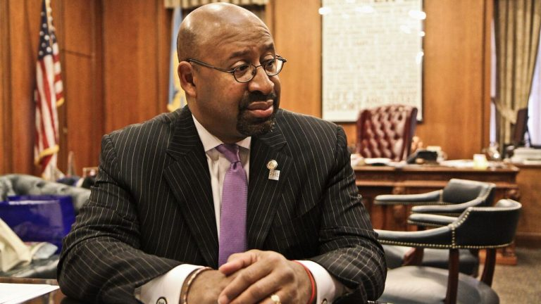 Outgoing Mayor Michael Nutter calls being mayor a 'roller coaster' but takes pride in what his administration has done in the last eight years (Kimberly Paynter/WHYY)