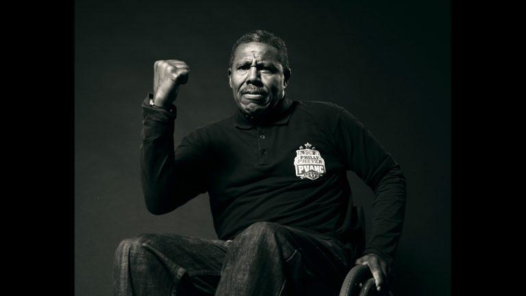 Eugene Tatom of Philadelphia is a Vietnam Vet who was injured when he stepped on a landmine. Tatom is an athlete and will compete in the National Veterans Wheelchair Games happening in Philadelphia next week (Image courtesy of  Philadelphia VA Medical Center)