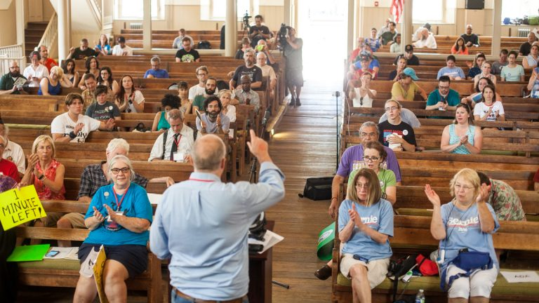 Voters unsatisfied with the Democratic Party Platform filled the Arch Street Meeting House for the People's Convention