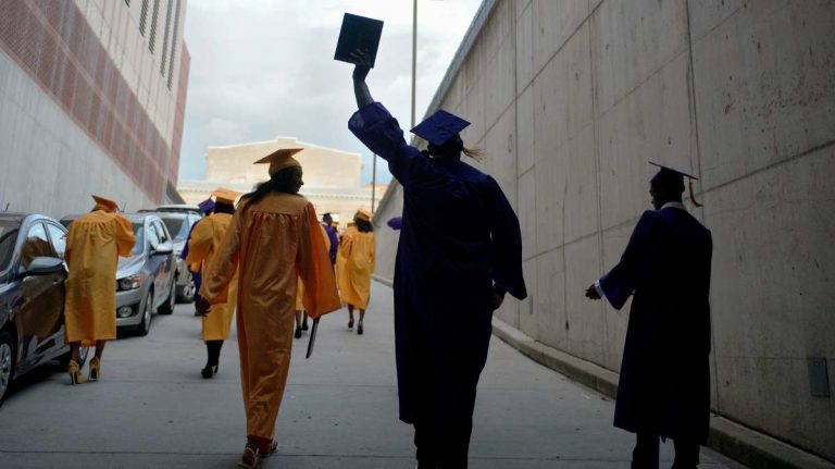 Graduates from Martin Luther King High School