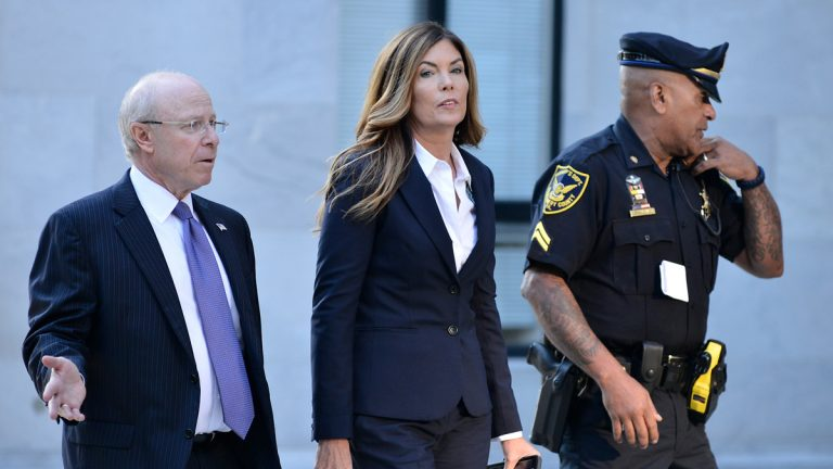 Former A.G. Kathleen Kane arrives at Montgomery County Courthouse in Morristown