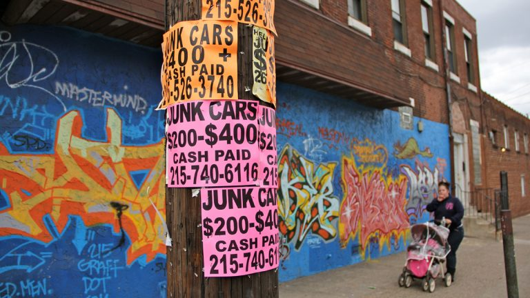 Philadelphia launches robocalls to pester posters of 'bandit' signs (Emma Lee/for NewsWorks)