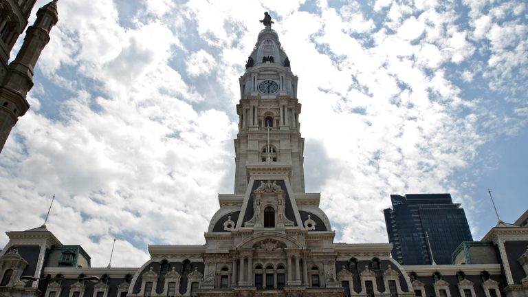 Philadelphia's City Hall Tower (Emma Lee/WHYY)