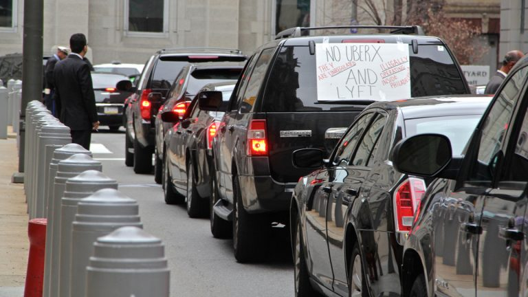 Limo drivers ring city hall