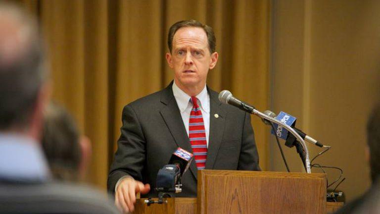 U.S. Sen. Pat Toomey of Pennsylvania (NewsWorks file photo)