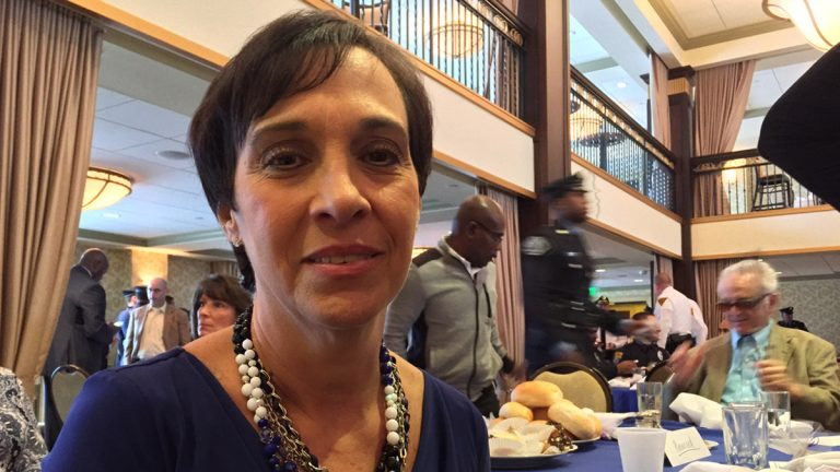 Patty DiRenzo is a member of the Camden County Addiction Awareness Task Force, which developed Operation SAL. Her son, Sal Marchese, died of an overdose five years ago. (Joe Hernandez/WHYY)