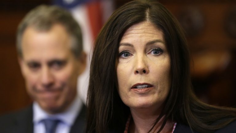 Pennsylvania Attorney General Kathleen Kane speaks. (Matt Rourke/AP Photo)