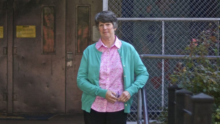 Helen Kelly is a nurse at McKinley Elementary School in North Philadelphia. (Kyrie Greenberg for NewsWorks)
