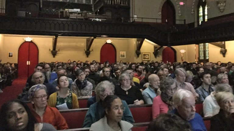 Over 800 people attended a Congressional redistricting event in Philadelphia (Kyrie Greenberg for NewsWorks)