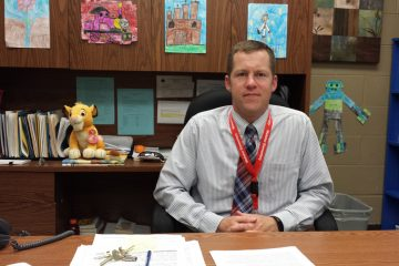 Shawn Wright, first-year principal at Webster Elementary school in Kensington (Kevin McCorry/WHYY)