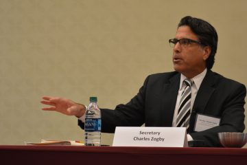 State budget secretary Charles Zogby said he 'didn't want to address' the district's 'empty shell' scenario. (Kevin McCorry/WHYY)