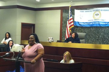 Participant Geraldine Horne says the mental health court helped her live independently, after spending time in a halfway house. (Laura Benshoff/WHYY)