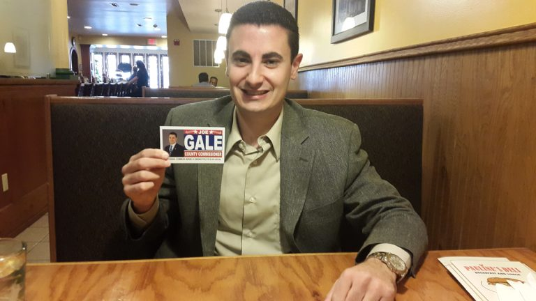 Republican candidate Joe Gale is running for Montgomery County commissioner, without the backing of his party. (Laura Benshoff/WHYY)