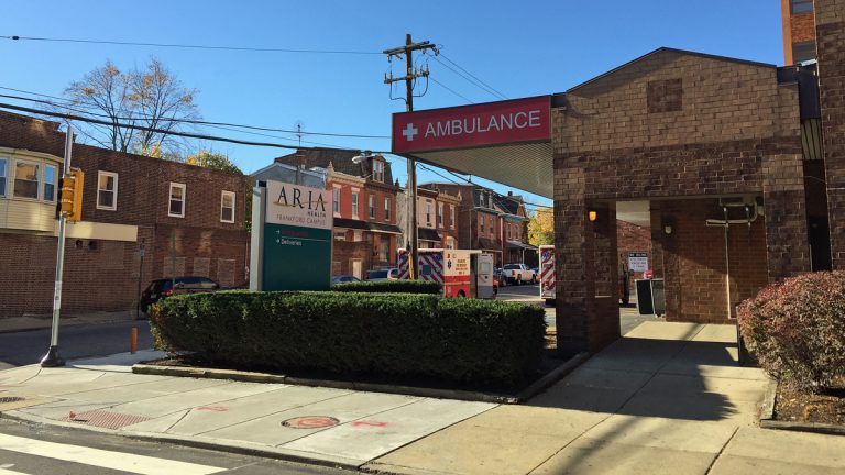 The area around Aria Health Frankford had high numbers of domestic violence in a recent survey. (Maiken Scott/WHYY)