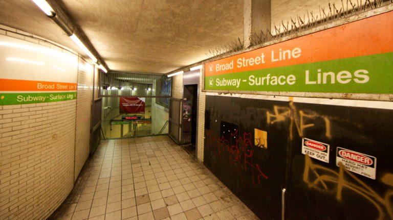 Philadelphia's Broad Street subway line (Orange Line) will be open 24 hours on weekends, beginning Saturday night. (Nathaniel Hamilton/for NewsWorks)