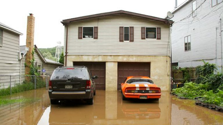 A flooded home in Pennsylvania (Nathaniel Hamilton/for NewsWorks, file)