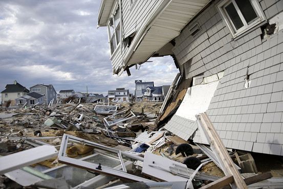Homes damaged by Superstorm Sandy are seen in this April 2013 image from the Ortley Beach section of Toms River. (Associated Press photo)
