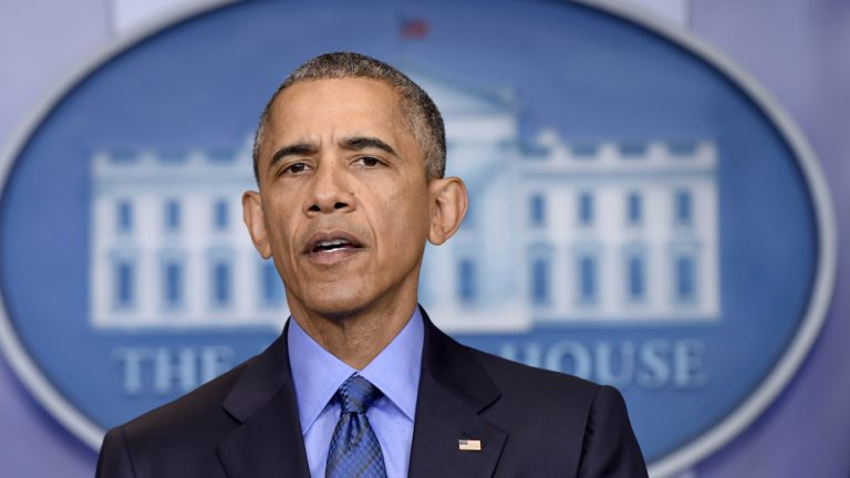 President Barack Obama spoke Thursday about the church shooting in Charleston, S.C., the night before. (AP Photo/Susan Walsh)