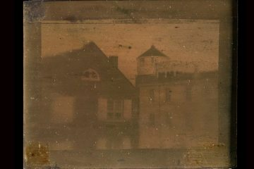 This image, which is in the collection at the Historical Society of Pennsylvania, is thought to be the oldest extant daguerreotype in the United States. It is small — barely 2 inches square. (Image used with permission, courtesy of Historical Society of Pennsylvania)