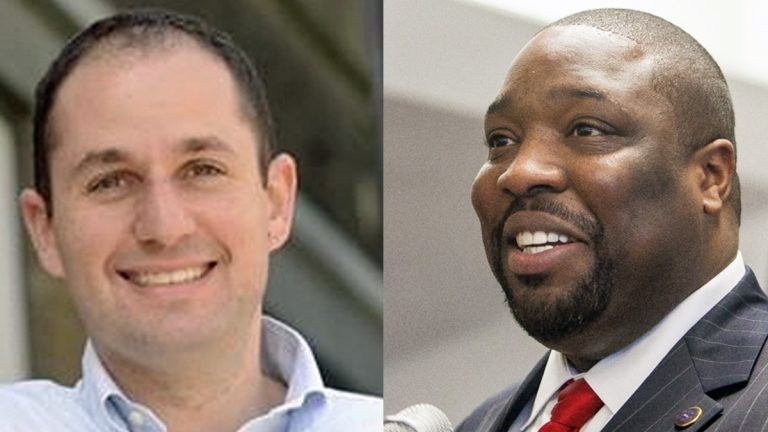 City Council candidate Ori Feibush (left) and Philadelphia Councilman Kenyatta Johnson (NewsWorks File Photos)