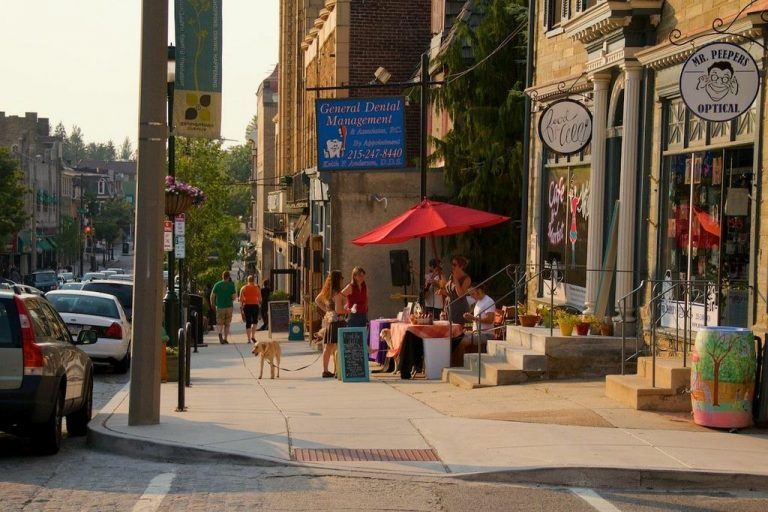 A summertime shot of Germantown Avenue in Mt. Airy. (Jana Shea/for NewsWorks, file)