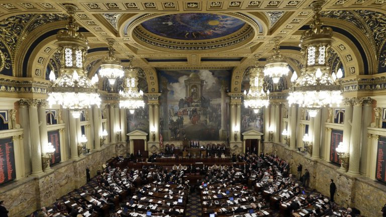 This 2013 file photo shows a joint session of the Pennsylvania House and Senate in Harrisburg
