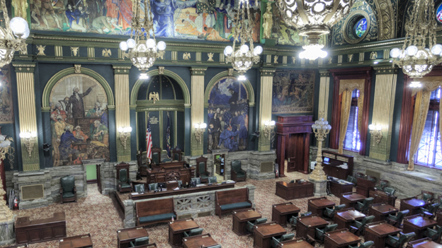 Pennsylvania state government's new fiscal year begins Wednesday, and the Wolf administration will lose some authority to spend money without enacted budget legislation in place. A Senate vote on a GOP spending plan is expected Tuesday.(AP file photo)
