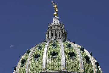 The dome of the Pennsylvania State Capitol Building. (Carolyn Kaster/AP Photo)