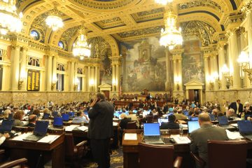 The floor of the Pennsylvania State House is shown in this 2011 file photo. (AP PHOTO/Bradley C. Bower)