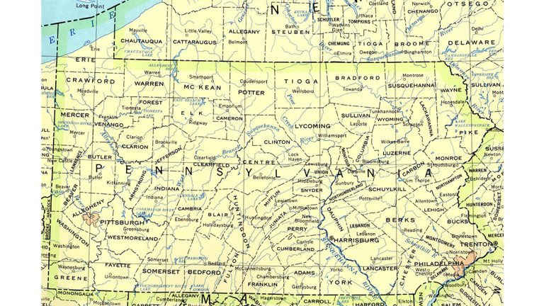 Why Does Pa Have So Many Local Governments Keystone Crossroads - Indiana rivers map