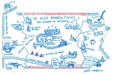 We asked attendees to fill out a 'personal' map of Pennsylvania. Jared Frederick