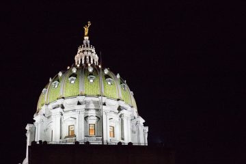 The Pennsylvania state capitol building in Harrisburg, Pa. (Lindsay Lazarski/WHYY file photo)