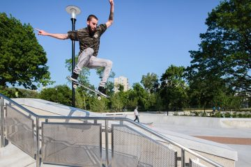 Joshua Nims will discuss the development of Paines Park, shown here. (Courtesy of Franklin's Paine Skatepark Fund)