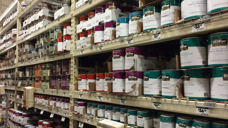 The New Jersey Chemistry Council estimates a fee of about 75 cents a can would fund a program allowing residents and contractors to take unused paint to designated sites for recycling.(Phil Gregory/WHYY)