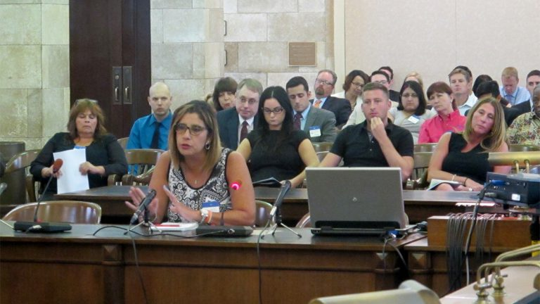 Parents testify at legislative hearing (Phil Gregory / WHYY)