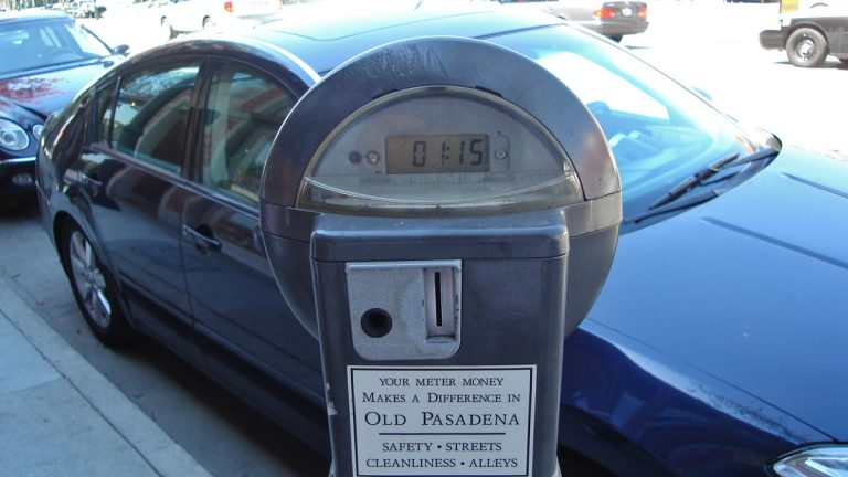Sometimes the deal for new parking meters can be sweetened with the promise of local revenue for projects. (Photo by Mike Linksvayer via Flickr)